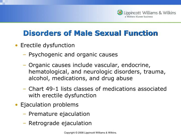 Disorders of Male Sexual Function