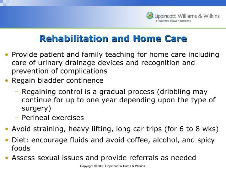 Rehabilitation and Home Care