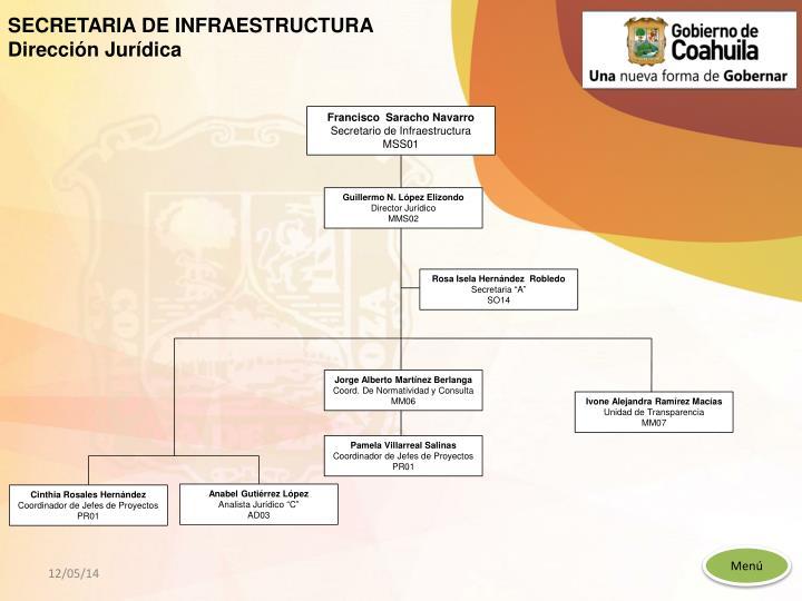 SECRETARIA DE INFRAESTRUCTURA