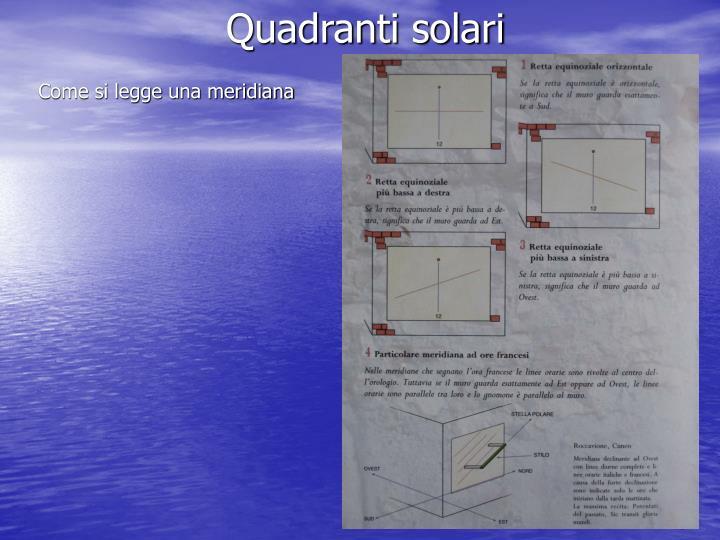 Quadranti solari