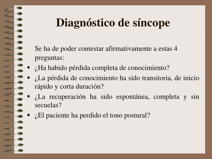 Diagnóstico de síncope