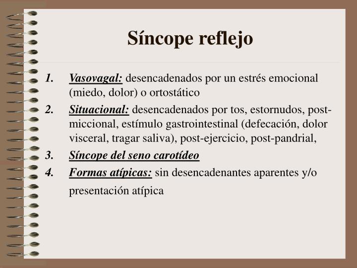 Síncope reflejo