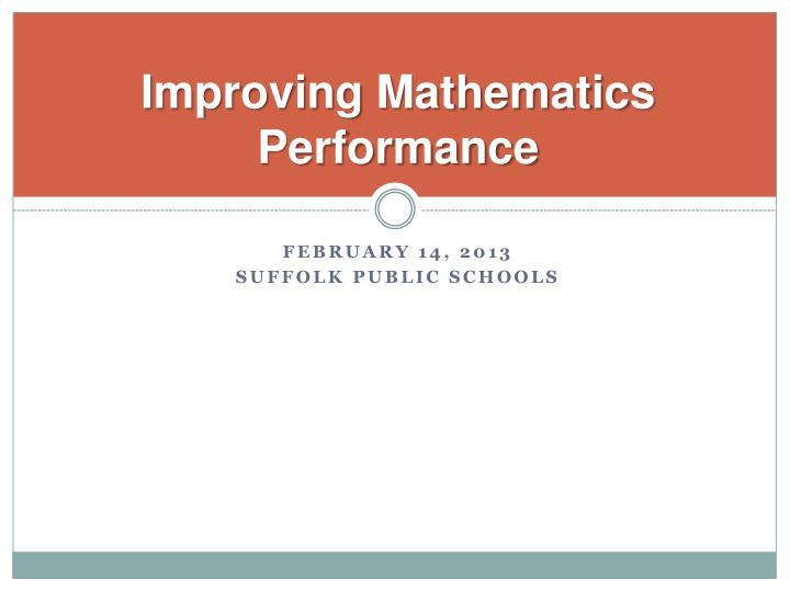 Improving Mathematics Performance