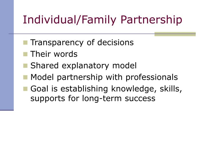 Individual/Family Partnership