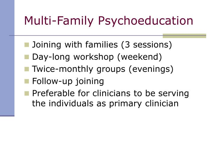 Multi-Family Psychoeducation