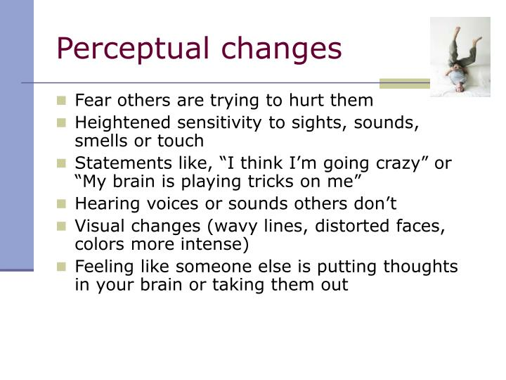 Perceptual changes