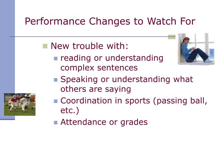 Performance Changes to Watch For