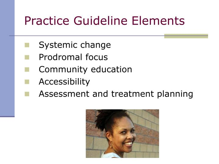 Practice Guideline Elements