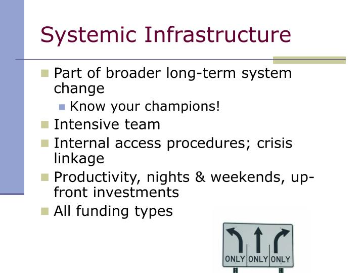 Systemic Infrastructure