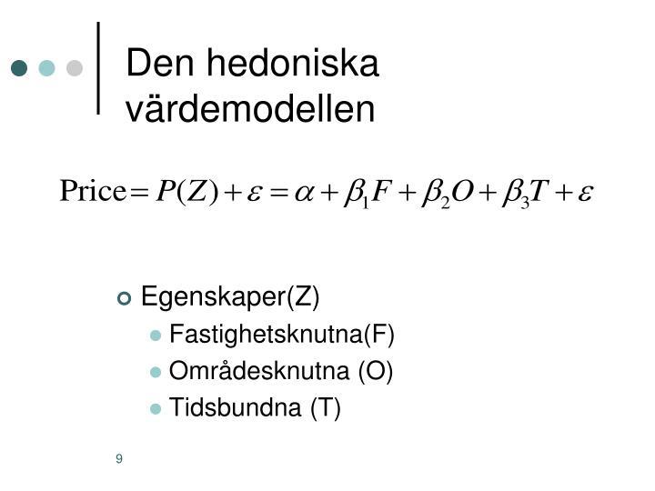 Den hedoniska värdemodellen