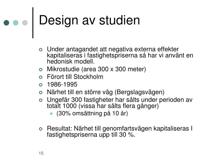 Design av studien