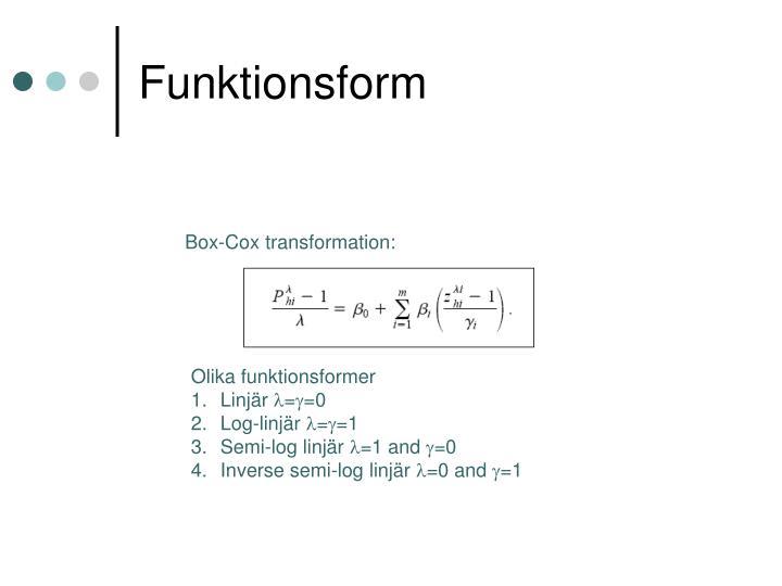 Funktionsform