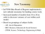 new taxonomy