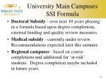 university main campuses ssi formula3