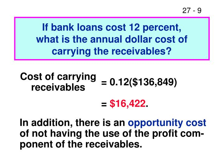 If bank loans cost 12 percent,