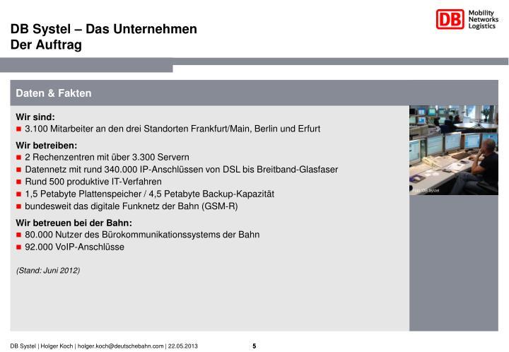 DB Systel – Das Unternehmen