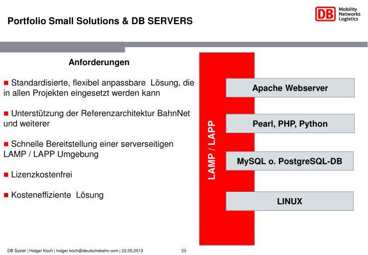 Portfolio Small Solutions & DB SERVERS