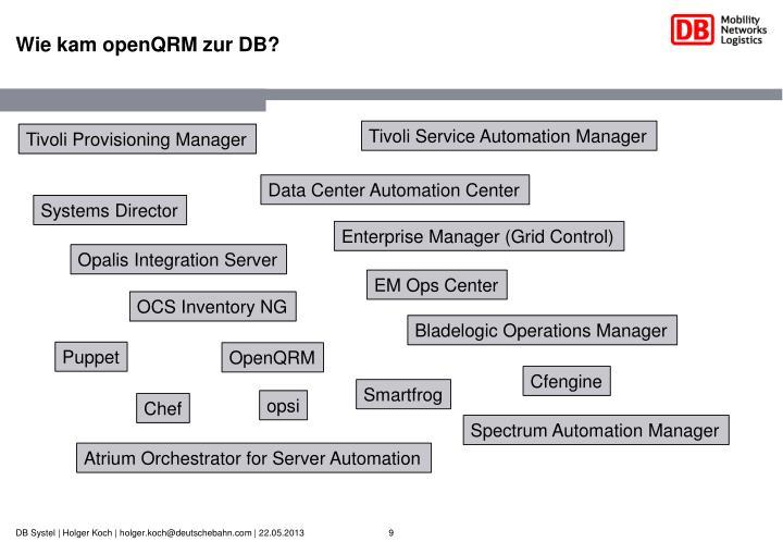 Wie kam openQRM zur DB?