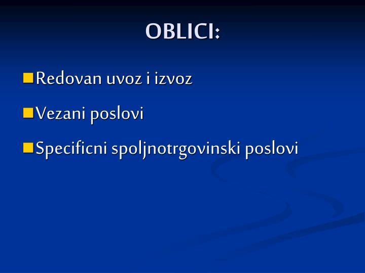 OBLICI: