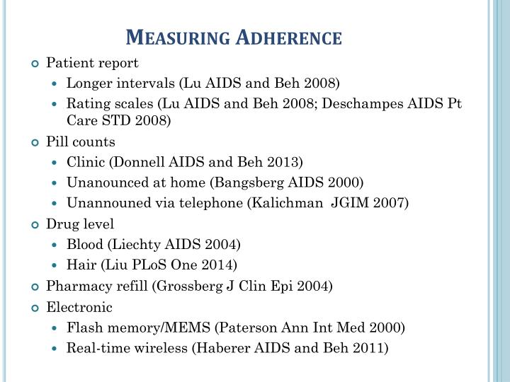 Measuring Adherence