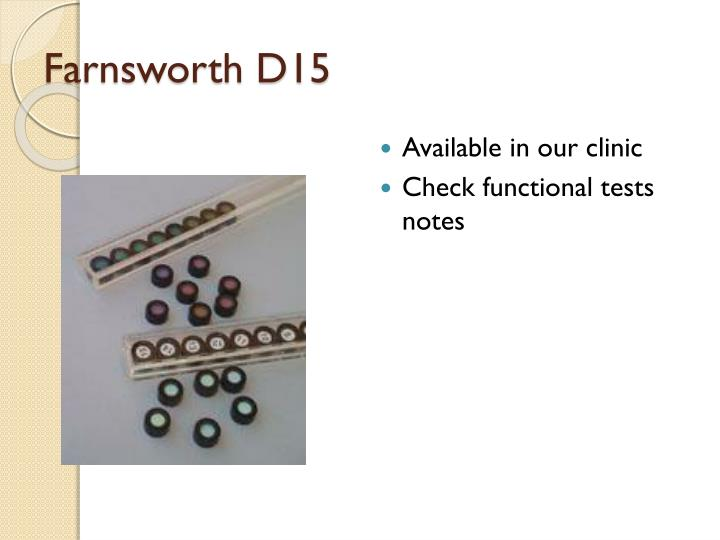Farnsworth D15