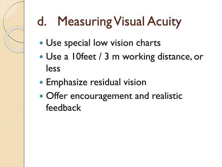 Measuring Visual Acuity