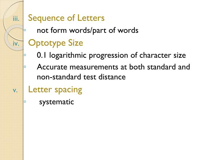 Sequence of Letters