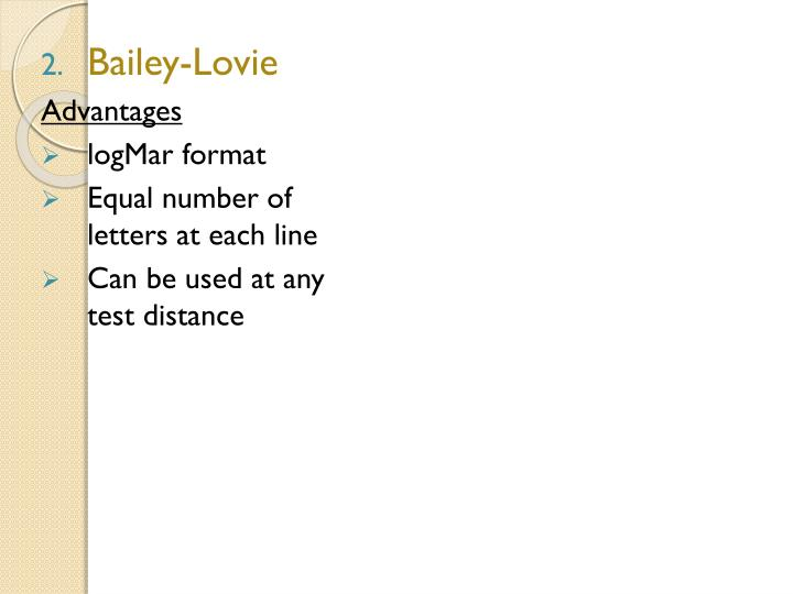 Bailey-Lovie