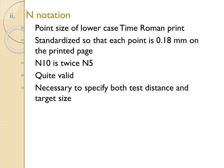 N notation