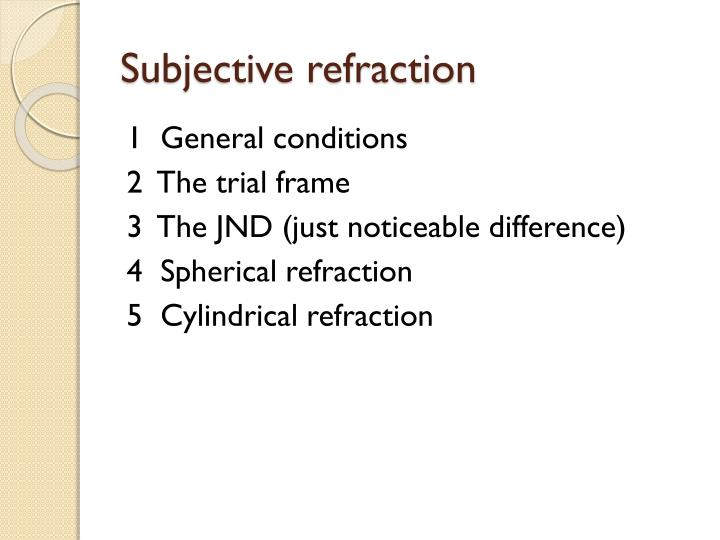 Subjective refraction