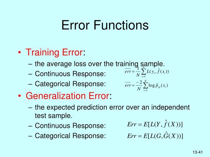 Error Functions