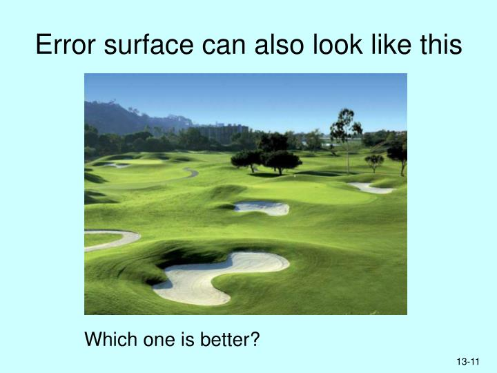 Error surface can also look like this