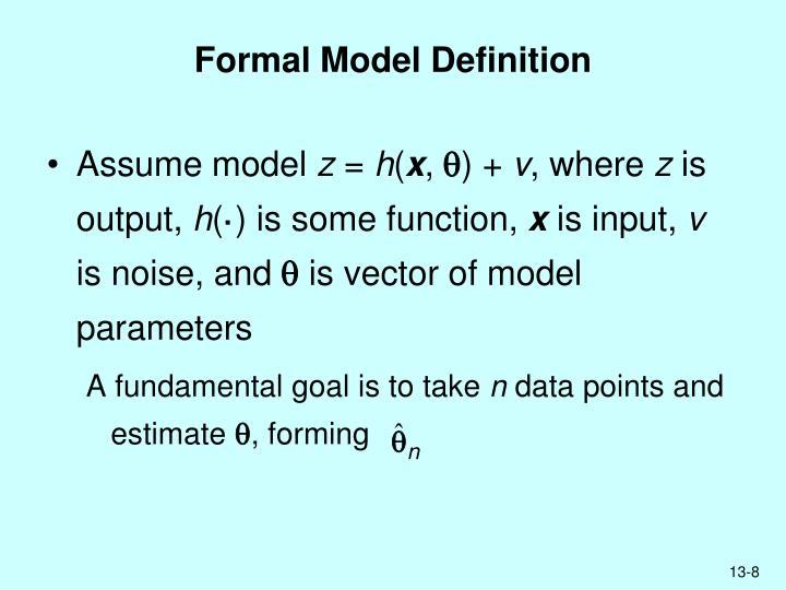 Formal Model Definition