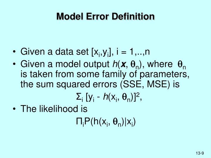 Model Error Definition
