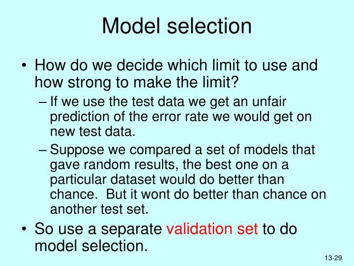 Model selection