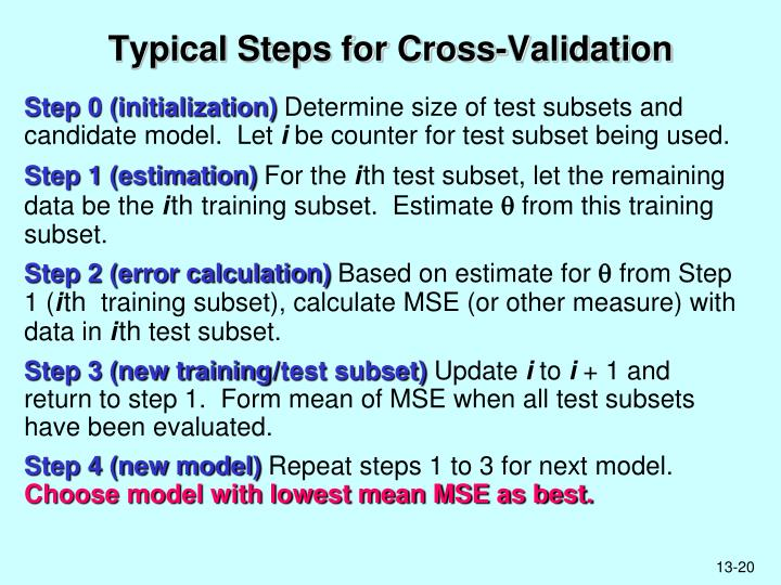 Typical Steps for Cross-Validation