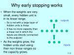 why early stopping works