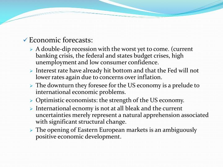 Economic forecasts: