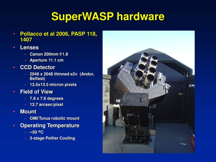SuperWASP hardware