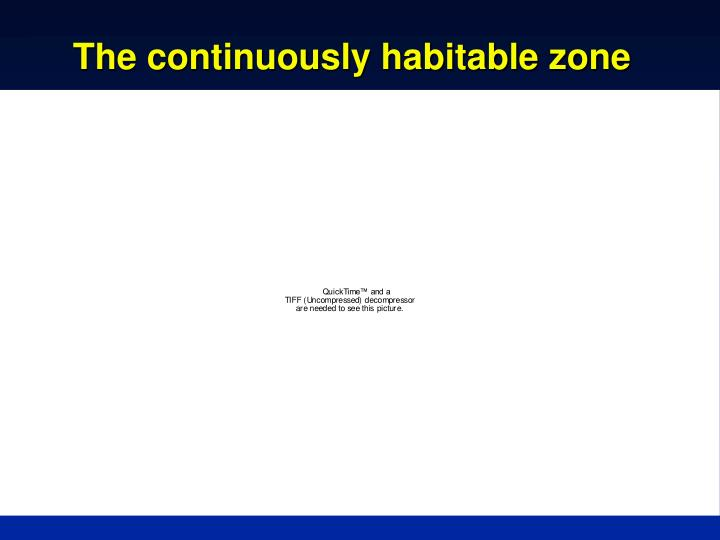 The continuously habitable zone