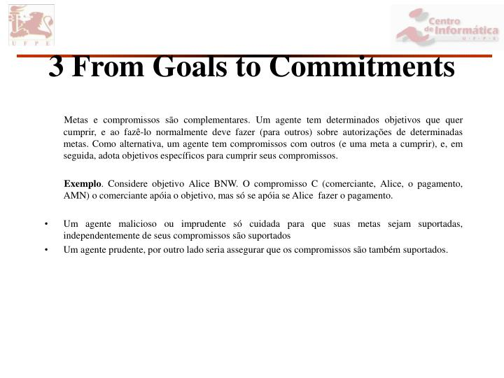 3 From Goals to Commitments