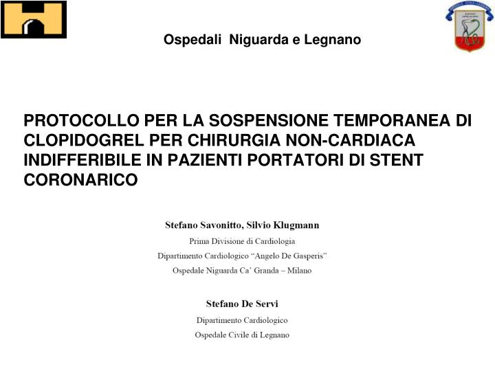 Ospedali  Niguarda e Legnano