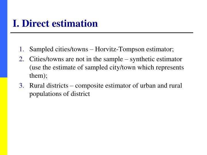 I. Direct estimation