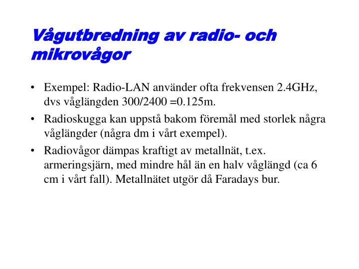 Vågutbredning av radio- och mikrovågor
