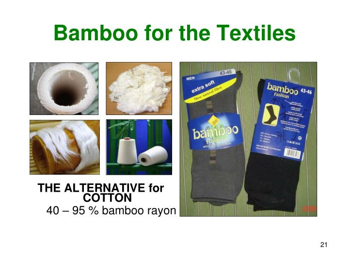 Bamboo for the Textiles