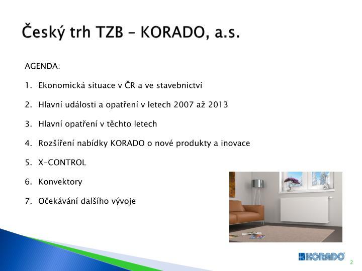 Český trh TZB – KORADO, a.s.
