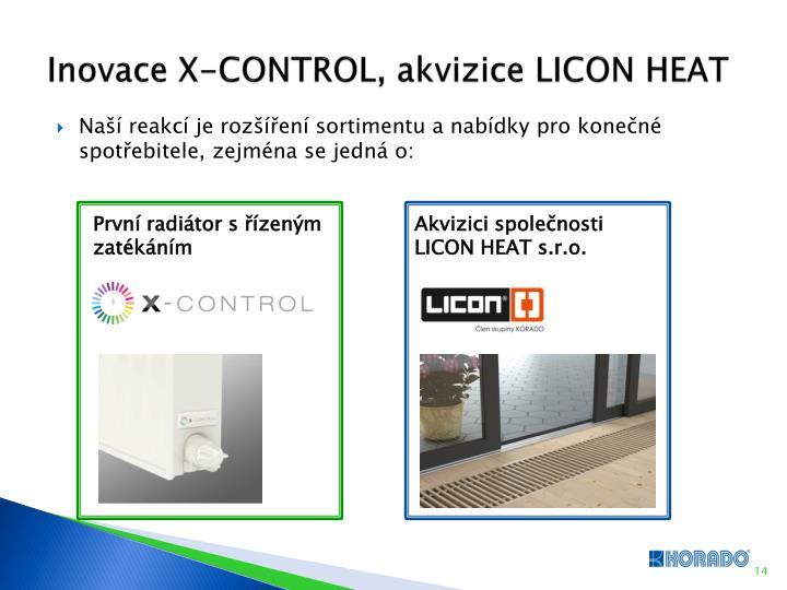 Inovace X-CONTROL, akvizice LICON HEAT