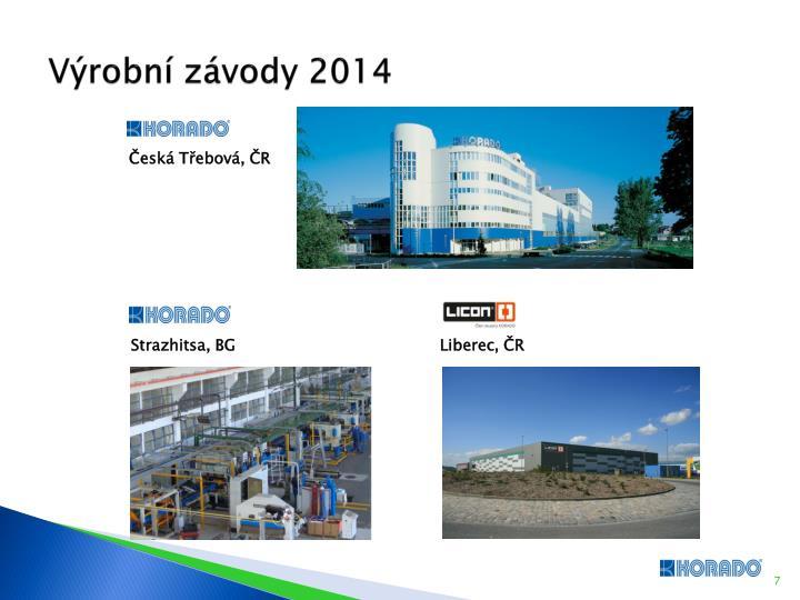 Výrobní závody 2014
