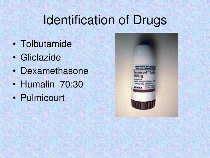 Identification of Drugs