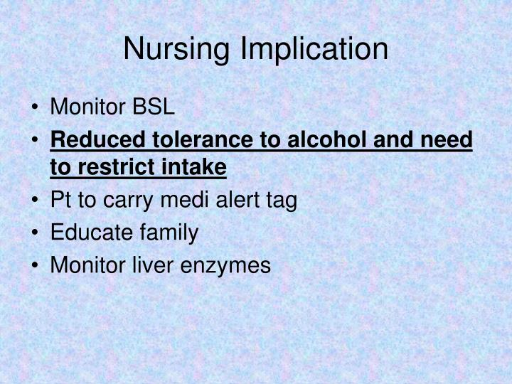 Nursing Implication